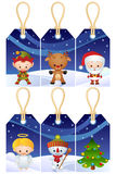 De giftmarkeringen van Kerstmis vector illustratie