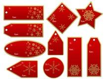 De giftmarkeringen van Kerstmis Royalty-vrije Stock Foto's