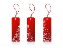 De giftmarkeringen van Kerstmis Stock Afbeeldingen