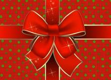 De giftpakket van Kerstmis Stock Foto