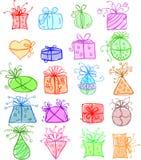 De giftpakketten van schetsen Stock Foto