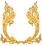 De gipspleister Thailand isoleert gouden royalty-vrije stock afbeelding