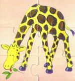 De giraf eet in de savanne Stock Afbeelding