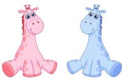 De giraffen van de baby Stock Foto's