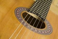 De gitaar van Acustic Stock Afbeelding