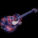 De gitaar van Amerika Stock Afbeelding