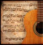 De gitaar van Anitique Stock Afbeeldingen