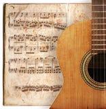 De gitaar van Anitique Royalty-vrije Stock Afbeeldingen