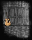 De gitaar van Aucoustic Stock Foto's