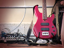 De gitaar van Grunge Stock Foto