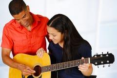 De gitaarspeler van de tiener royalty-vrije stock foto's