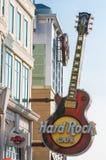 De gitaarteken van de Hardrockkoffie Stock Foto