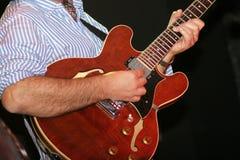 De gitarist van de jazz Stock Afbeelding