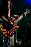 De gitarist van de rots Stock Foto's
