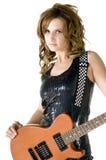 De Gitarist van de Rots van Glam stock foto