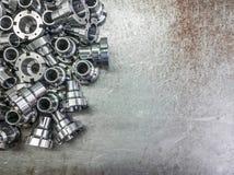 De glanzende achtergrond van staaldelen Royalty-vrije Stock Foto