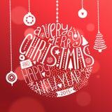 De glanzende Bal van Kerstmis Royalty-vrije Stock Foto