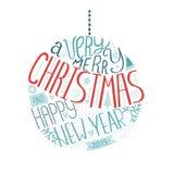 De glanzende Bal van Kerstmis Royalty-vrije Stock Afbeelding
