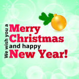 De glanzende Bal van Kerstmis Royalty-vrije Stock Foto's