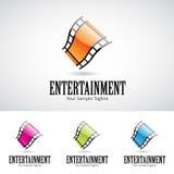 De glanzende 3d Spoel Logo Icon van de Beeldverhaalfilm Stock Foto's
