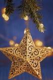 De glanzende Decoratie van de Kerstmisster Stock Afbeeldingen