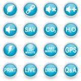 De glanzende geplaatste pictogrammen van het cirkelweb Royalty-vrije Stock Afbeelding