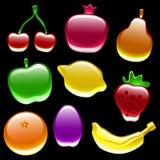 De glanzende Inzameling van het Fruit royalty-vrije illustratie