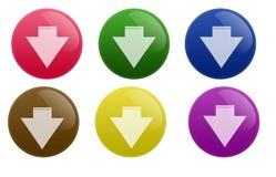 De glanzende Knoop van de Download Stock Foto