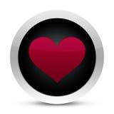 De glanzende knoop van het hart Royalty-vrije Stock Foto's