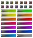 De glanzende Knopen van het Web Stock Foto's