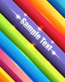 De glanzende Multicolored Abstracte Achtergrond Vecto van Lijnen Stock Illustratie