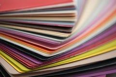 De glanzende plastic kaarten van pvc Royalty-vrije Stock Foto's
