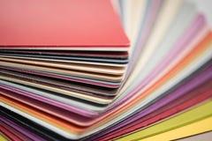 De glanzende plastic kaarten van pvc Royalty-vrije Stock Foto