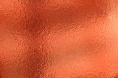 De glanzende rode achtergrond van de blad gouden folie Stock Foto