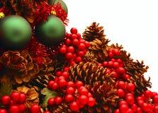 De glanzende Rode Reeks van de Kerstboom - Tree3 Stock Foto's