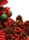 Glanzende Rode Kerstboomreeks - Tree4 royalty-vrije stock afbeelding