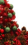 De glanzende Rode Reeks van de Kerstboom - Tree6 Stock Foto