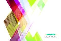 De glanzende scène van de kleurenvorm op een wit Royalty-vrije Stock Afbeeldingen