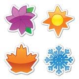 De glanzende Stickers van het Weer Stock Afbeelding