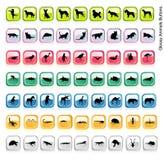 De glanzende vector van dieren Royalty-vrije Stock Foto's