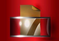 De glas-aan-metaal doos Stock Afbeeldingen