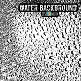 De glasheldere waterdalingen op een glanzende oppervlakte stock illustratie