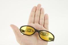 De glazen ontwerpen uw gezicht Stock Foto's