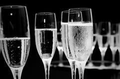 De glazen van Champagne stock foto