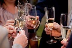 De glazen van Champagne Royalty-vrije Stock Afbeelding