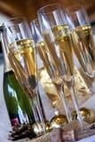 De glazen van Champagne Stock Foto's