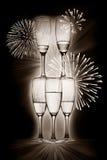 De glazen van Champagne Stock Afbeeldingen