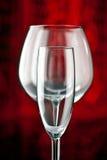 De glazen van Champagne en van de rode wijn Royalty-vrije Stock Foto's