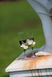 De glazen van Champagne van het huwelijk Royalty-vrije Stock Foto's