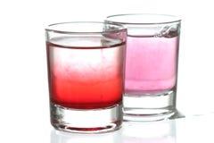 De glazen van Coloful Stock Afbeeldingen